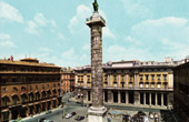 View of Rome - Italy - Piazza Colonna - Column of Marcus Aurelius