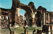 View of Rome - Italy - The Baths of Caracalla