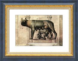 Escultura Italiana - Antigua Roma - Loba Capitolina - Luperca - Rómulo - Remo