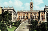 View of Rome - Italy - The Capitoline Hill - Capitol - Piazza del Campidoglio