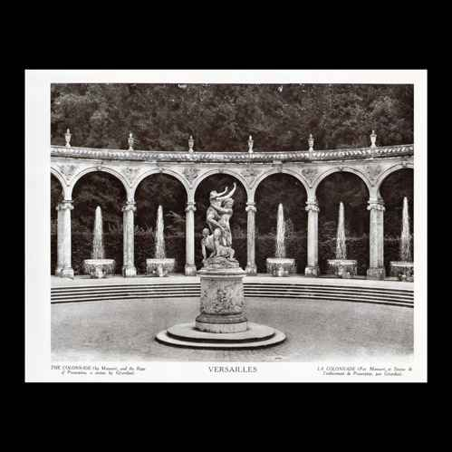 gravures anciennes ch teau de versailles jardin la colonnade l 39 enl vement de proserpine. Black Bedroom Furniture Sets. Home Design Ideas