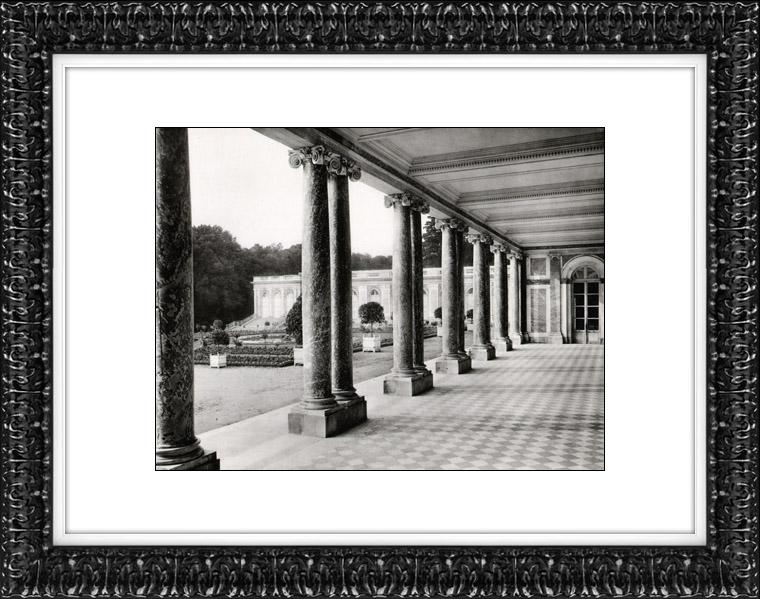 Gravures Anciennes & Dessins | Château de Versailles - Le Péristyle - Grand Trianon - Trianon de Marbre | Héliogravure | 1920