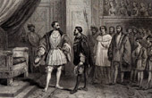 Meet of Francis I of France and the Emperor Charles V in Paris in 1540