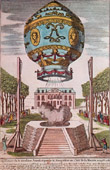 Hot-air Balloon - Airship - Dirigible - Montgolfier Brothers - First Air Voyage (November 1783)
