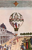 Hot-air Balloon - Airship - Dirigible - Paris - Champ-de-Mars - Mme Blanchard  (1810)