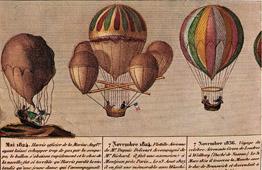 Hot-air Balloon - Airship - Dirigible - Harris - Dupuis Delcourt - Green (1824-1836)