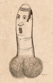 Erotica - Curiosa - Caricature in British India - Phallus - Penis - Man - English Order During the British Raj in Kolkata