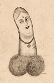 Erotica - Curiosa - Caricature in British India - Phallus - Penis - Woman - English Order During the British Raj in Kolkata