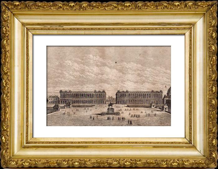 antika tryck historia och monument av paris place de la concorde h tel du garde meuble de. Black Bedroom Furniture Sets. Home Design Ideas