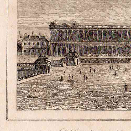 Gravures anciennes gravure de histoire et monuments de for Architecture 17eme siecle
