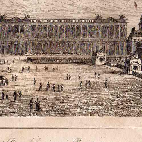 grabados antiguos grabado de historia y monumentos de paris plaza de la concordia h tel du. Black Bedroom Furniture Sets. Home Design Ideas