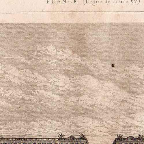 Intaglio Print 1845 History And Monuments Of Paris Place De La Concorde Hotel Du Garde Meuble De La Couronne 17th Century
