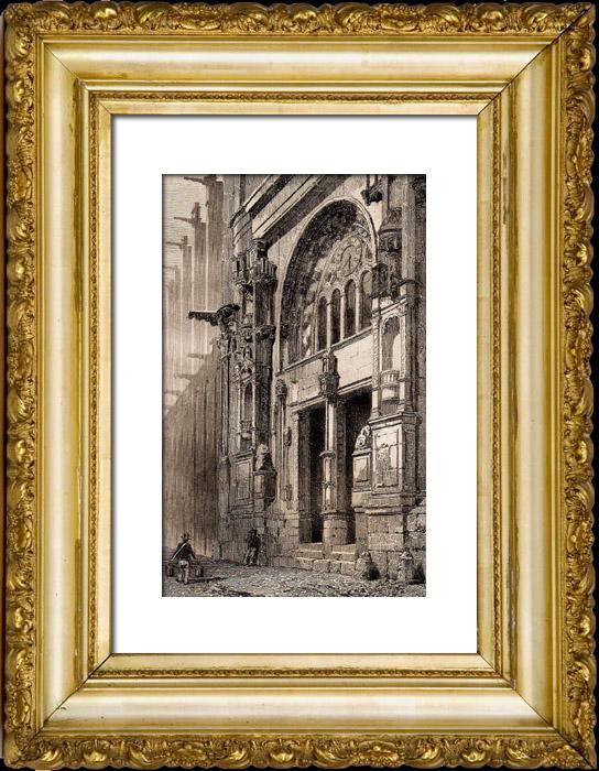 Antique prints history and monuments of paris saint for Domon furniture st eustache