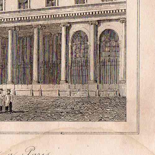 Stampe antiche monumenti storici di parigi scuola di for Piani di piantagione storici