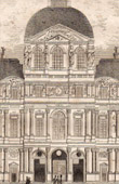 Historic Monument - Paris - Cour Carr�e du Louvre built by Francois I with the architect Pierre Lescot