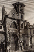 View of Paris - Saint Merry Church - Saint Méry - Saint Merri
