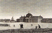 View of Paris - Champ-de-Mars - Military School - Ecole Militaire
