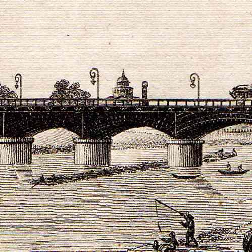 Gravures anciennes vue de paris seine pont d 39 austerlitz jardin des plantes gravure sur - Pont du jardin des plantes ...