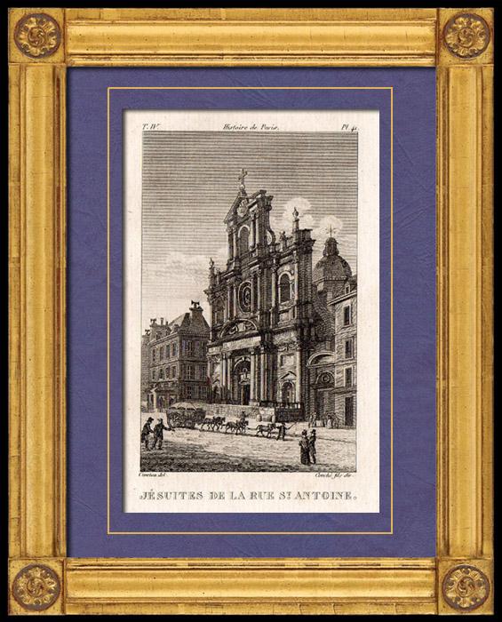 Gravures anciennes vue de paris j suites de la rue for Miroir st antoine