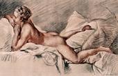 Female Nude - Mademoiselle Louise O'Murphy (Fran�ois Boucher)
