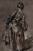 Young Woman Walking  (Fran�ois Boucher)