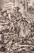 Washerwomen - Les Laveuses (Fran�ois Boucher)