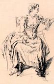 Sitted Woman (Nicolas Lancret)