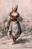 Antique print - Circassia - Cherkessia - La Jeune Circassienne (Jean-Baptiste Le Prince)