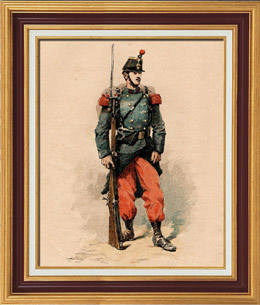 Infantry - Military Uniform - French Army (1884)