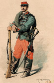 Infantry - Chasseur - Military Uniform - French Army (1884)
