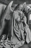 Angel - The Annunciation - The Archangel Gabriel's Annunciation to the Blessed Virgin Mary (Jan Van Eyck - Hubert Van Eyck)