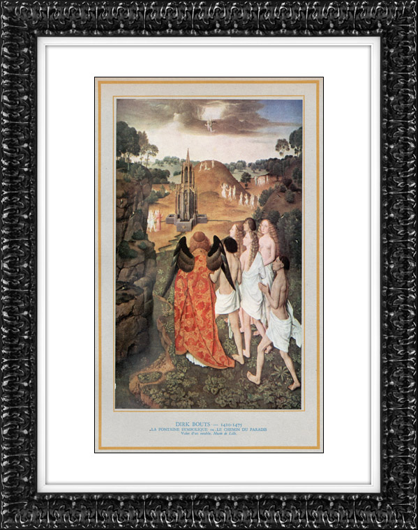 Gravures anciennes ange la fontaine symbolique le for Symbolique du miroir