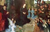 Angel - Jesus - Nativity - The Adoration of the Shepherds (Hugo van der Goes)