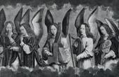 Stampa antica - Angelo - Angeli Musicisti (Hans Memling)
