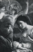 Angel - Birth of the Virgin Mary (Louis Le Nain)