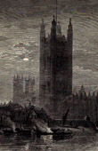 View of London - England - Palace of Westminster - Victoria Tower (United Kingdom )