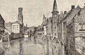 View of Bruges - Canal du Rosaire (Belgium)