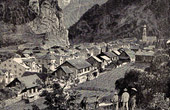 View of Thusis - Canton of Graub�nden (Switzerland)