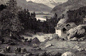 View of Engadine - Saint-Moritz - Canton of Graub�nden (Switzerland)