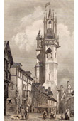Historic Monument - Clock Tower at Evreux (France)