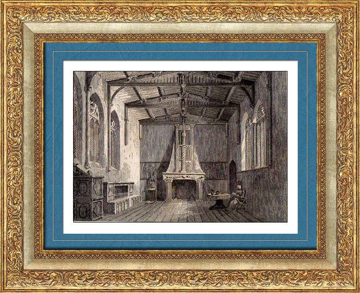 Gravures Anciennes & Dessins   Manoir à Nantes (France)   Taille-douce   1845