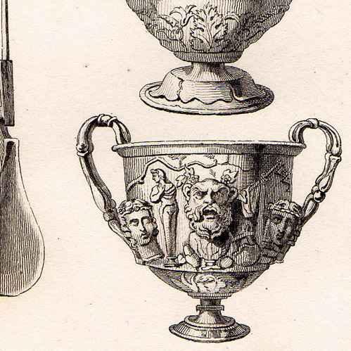 alte stiche antikes rom vasen aus silber stahlstich. Black Bedroom Furniture Sets. Home Design Ideas