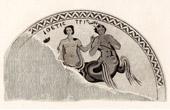 Romersk Monument  - Mosaiken - Triton