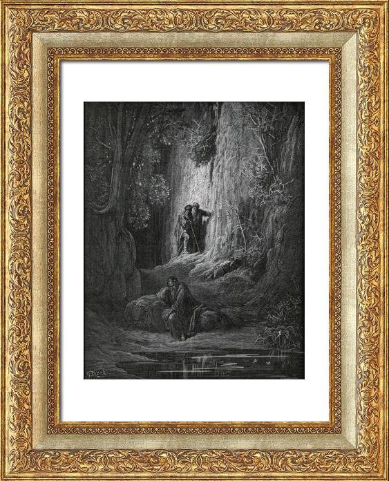 Gravures Anciennes & Dessins   Fables de La Fontaine - Le Juge Arbitre l'Hospitalier et le Solitaire (Gustave Doré)   Gravure sur bois   1868