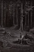 Fables of La Fontaine - The Forest and the Woodman (Gustave Dor�)