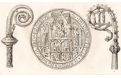 Ancient objects - XIVth Century - Seal - Crosiers