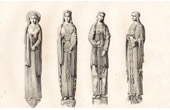 Cathedral of Chartres - Western Gate (Eure-et-Loir - France) - Statues
