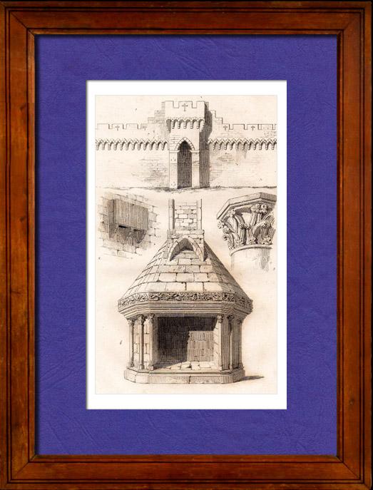 Gravures anciennes architecture en france xiv me for Architecture 18e siecle france