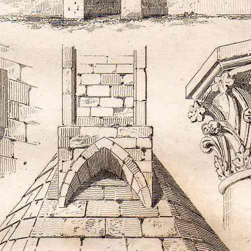 Gravures anciennes architecture en france xiv me for Architecture 17eme siecle