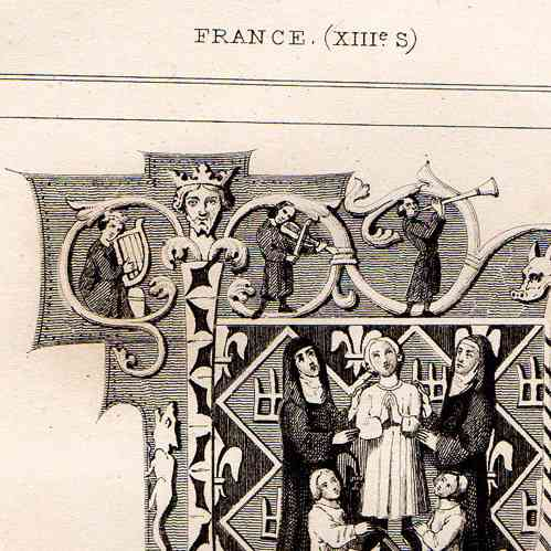 Alte stiche antike gegenst nde dekoration verzierte for Frankreich dekoration